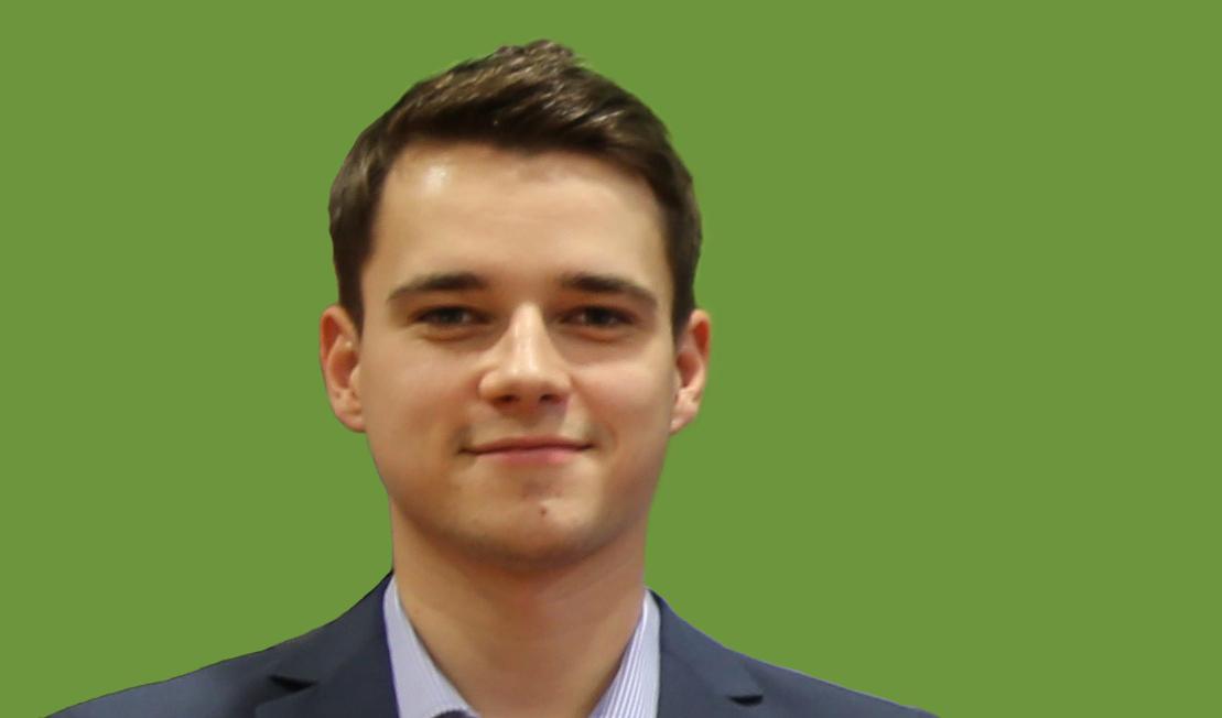 Andre Biermann, Student im Bereich Maschinenbau und Energiesystemtechnik