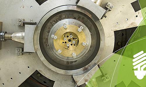 Detailaufnahme einer Turbine