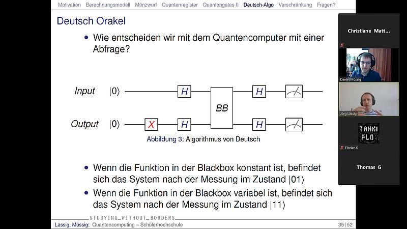 "Schüler-Hochschule am Samstag zum Thema ""Quantum Computing"""