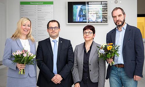 Die 2 neuen Prorektoren Frau Prof. Keil und Herr Prof. Kollm orgen miot dem Rektor Herrn Prof Kratzsch und der Kanzlerin Frau Karin Hollstein.