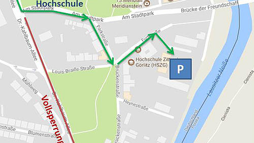 Vollsperrung in Görlitz