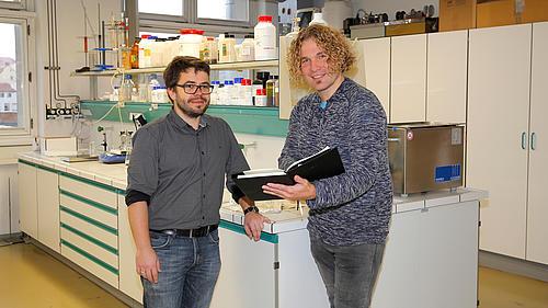 Partnerschaftssprecher Prof. Dr. rer. nat. Jens Weber und LaNDER³-Projektmanager Dr. rer. nat. Matthias Kinne