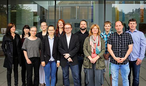 von links: M. Heidig, K. Kobelt, K. Schubert, C. Matthieu, A. Bulcsu, C. M. Heidger, S. Nowack, S. Riedel, K. Kühne, D. Müssig, S. Hänseroth, J. Bienert (es fehlt: M. Herrmann)
