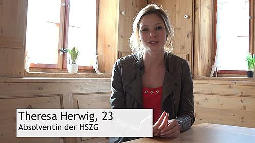 Theresa und Albrecht haben beide an der HSZG studiert und sprechen in einem Kurzfilm darüber, warum sie sich ein Leben in der Großstadt nicht vorstellen können