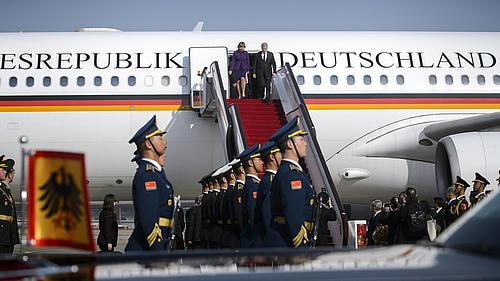 Gauck äußert sich beeindruckt vom Deutsch-Chinesischen Austausch, welcher auch an der HSZG seit 12 Jahren stattfindet