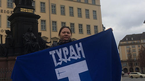 Kasachin Elmira Yeralin zu Besuch in Deutschland