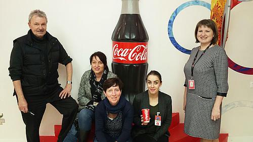 Mitarbeiter der HSZG zu Besuch bei Coca Cola