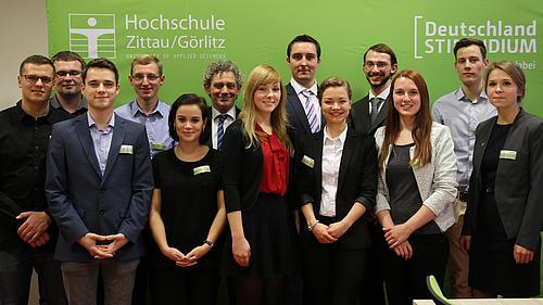Am 23.11. erhielten 13 Studierende der HSZG ihre Urkunden für ein Deutschlandstipendium für das Studienjahr 2016/2017