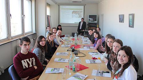 Studierende der Hochschule Nationale Wolodymyr-Hnatjuk-Pädagogische Universität Ternopil zu Gast an der HSZG