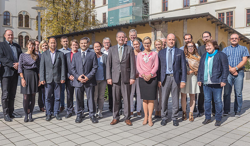 Partner des Programms INTERREG CENTRAL EUROPE und dem Projekt AMiCE Kick-Off-Meeting in Chemnitz