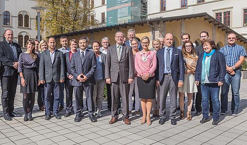 Partner des Programms INTERREG CENTRAL EUROPE und dem Projekt AMiCE Kick-Off-Meeting in Chemnitz