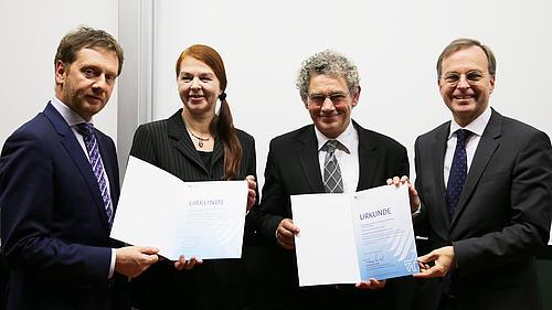 Die HSZG konnte sich bei der Urkunden-Übergabe zum Qualitätspakt Lehre über hohen Besuch freuen
