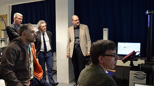 Die Präsentation ausgewählter Labore des Maschinenbaus und der Energietechnik fand Anerkennung