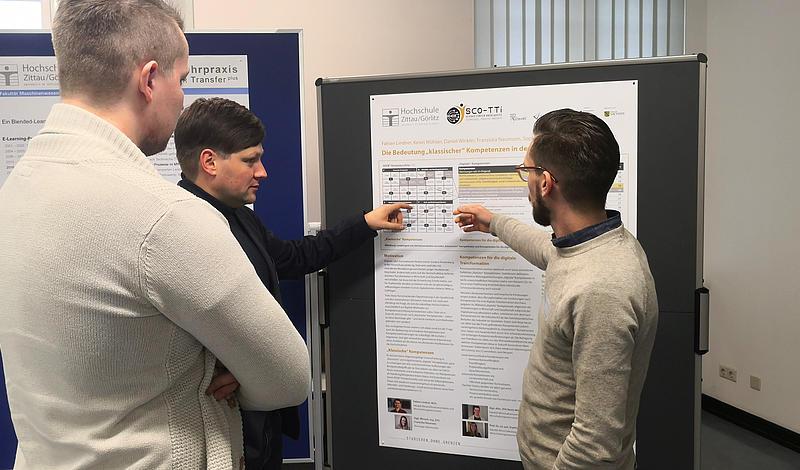 Diskussion zur Postersession der Workshops on E-Learning in Leipzig