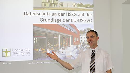Datenschutzbeauftragter der Hochschule Zittau/Görlitz, Herr Prof. Dr. Wendt