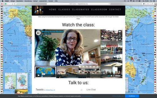 Screenshot: Gemeinsames Kick off Meeting im global classroom