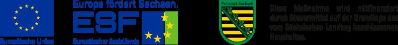 Logokombination EU, ESF, SAB