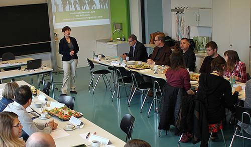Prof. Dr. Jana Brauweiler beim 6. IMS-Frühstück