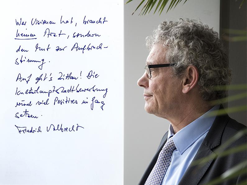 Professor Friedrich Albrecht, Rektor der Hochschule Zittau/Görlitz