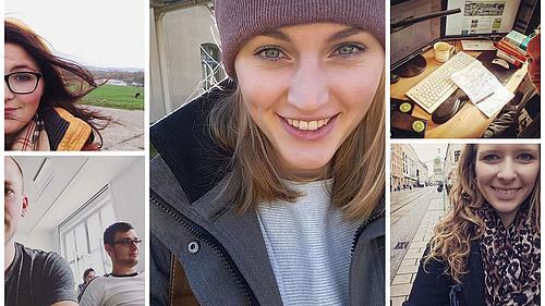 Fünf Studierende haben bereits auf dem HSZG-Instagram-Kanal Beiträge gepostet