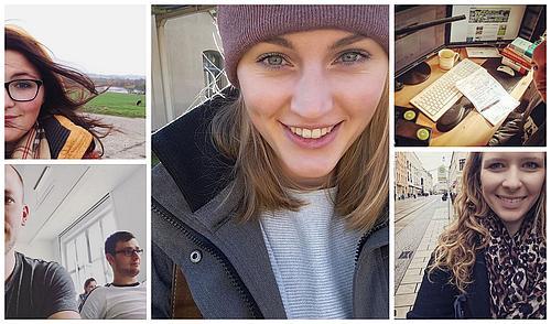 Fünf Studierende haben bereits auf dem HSZG-Instagram-Kanal Beiträge gepostet.
