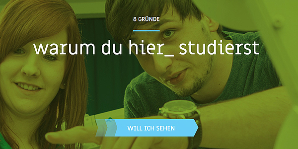"Screenshot der Landingpage ""studier_hier"" mit grünen Overlay"