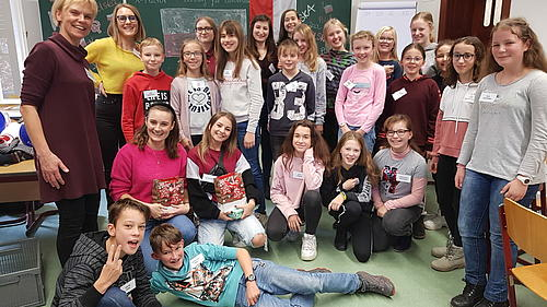 Schüler des Geschwister-Scholl-Gymnasiums aus Löbau