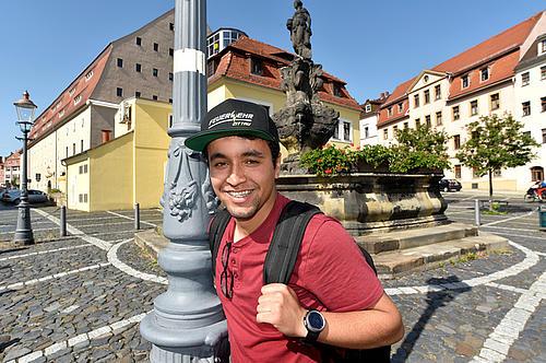 Anass Halime wohnt zwar mittlerweile in Görlitz, kommt aber regelmäßig nach Zittau.