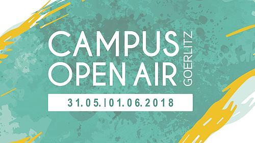Schriftzug vom Campus Open Air mit Datum