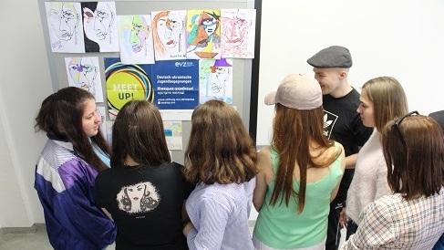 Im Mai waren elf Studierende und eine Dozentin aus der ukrainischen Universität Hlukhiv an unserer Hochschule zu Gast