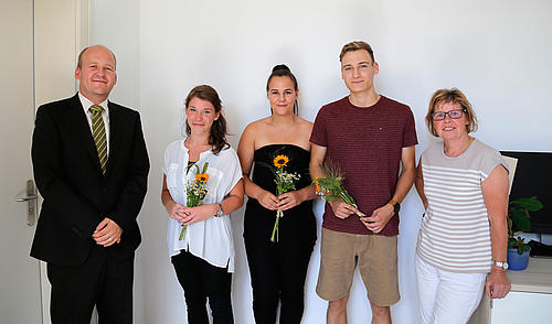 Christoph Duscha, Lisa-Marie Ulbrich, Julia Henschke, Max Tusche, Petra Schmidt (v.l.n.r.)