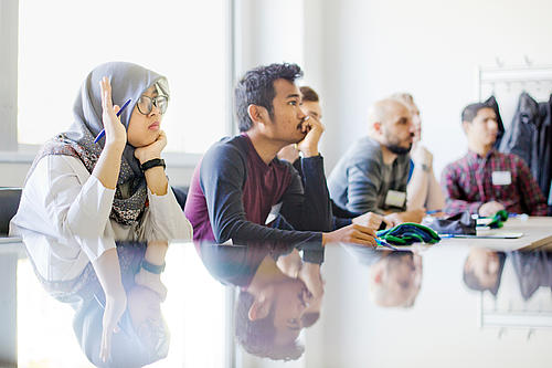Teilnehmer beim Workshop